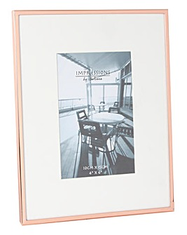 Copper Plated Photo Frame with Mount