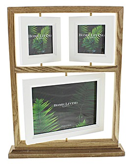 Wooden Suspended Photo Frames Collage