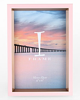 iFrame Pink & Gold Photo Frame 4 x 6