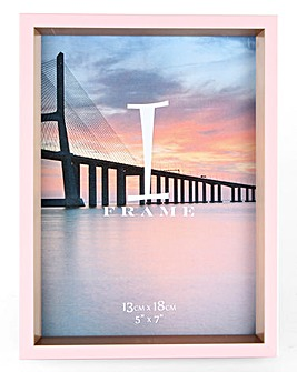iFrame Pink & Gold Photo Frame 5 x 7