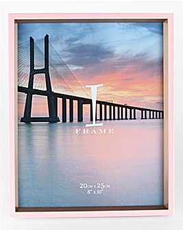 iFrame Pink & Gold Photo Frame 8 x 10