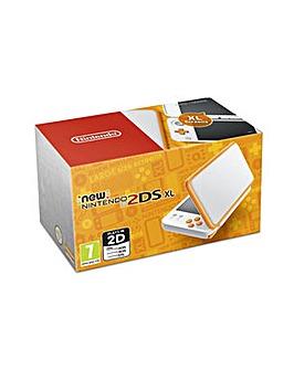 New 2DS XL Console - White  Orange