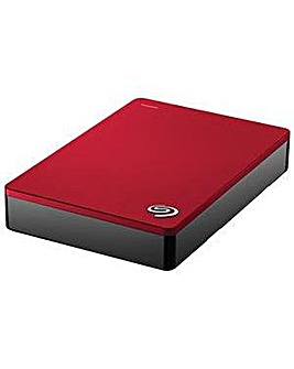 "SEAGATE 4TB BACK UP PLUS 2.5"" RED"