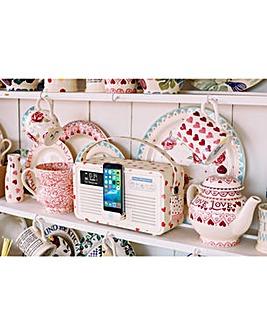 VQ Hepburn Mk II DAB Radio Pink Hearts