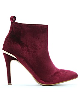 DF By Daniel Hetty Velvet Ankle Boots