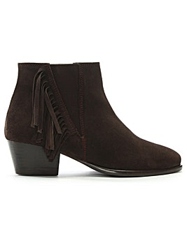 DF By Daniel Tatton Fringed Ankle Boots
