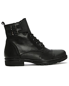 DF By Daniel Joby Leather Biker Boots