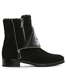 Michael Kors Two Zip Biker Ankle Boots