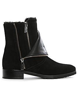 Michael Kors Two Zip Biker Ankle Boots