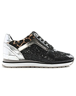 Michael Kors Glitter & Leather Trainers