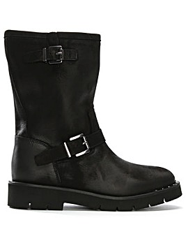 Daniel Goldeye Leather Biker Boots