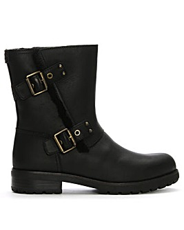 UGG Niels Leather Buckled Calf Boots