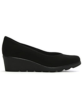 Daniel Sweeper Suede Wedge Court Shoes