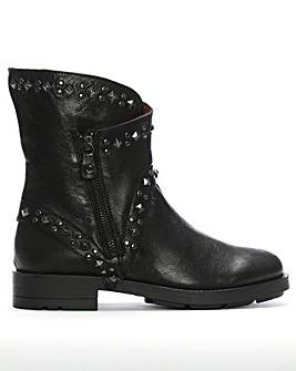 Daniel Matha Leather Studded Biker Boots
