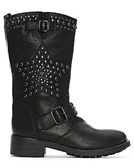 Daniel Fatha Studded Biker Calf Boots