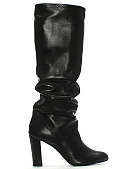Daniel Atube Leather Rouched Knee Boots