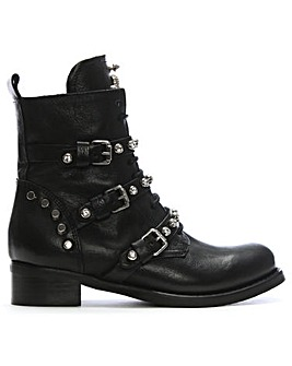 Daniel Diamboot Leather Biker Boots