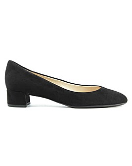Hogl Low Block Heel Suede Court Shoe
