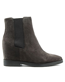 Ash Suede Low Wedge Chelsea Ankle Boots