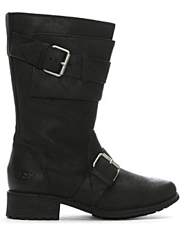 UGG Chancey Leather Calf Biker Boots
