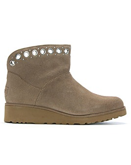 UGG Riley Suede Grommet Mini Boots