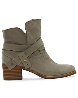 UGG Elora Leather Wrapped Ankle Boots