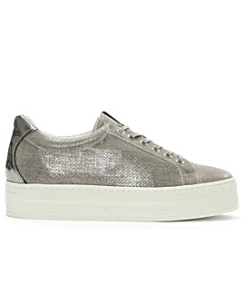 Daniel Suri Leather Flatform Trainer