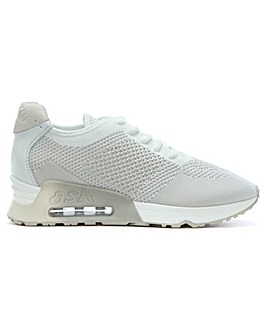 Ash Lucky Leather & Woven Knit Trainers