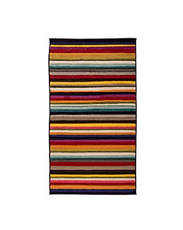 Hand-carved Striped Design Rug