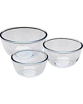 Pyrex 3 Piece Glass Bowl Set.