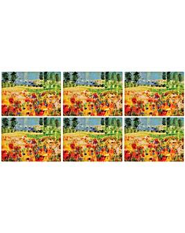 Pimpernel Impressionist Flowers Mats