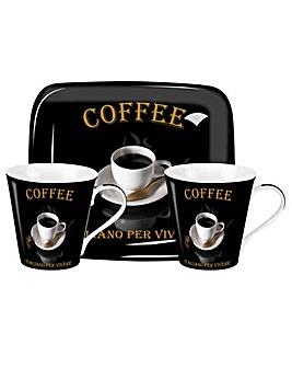 Pimpernel Caf� Italiano Mug & Tray Set