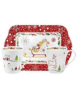 Pimpernel Christmas Wish Mug & Tray Set