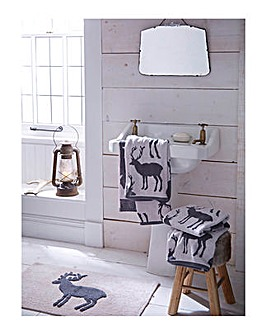 Stag Jacquard Hand Towel
