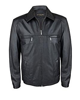 Woodland Leather Harrington Jacket
