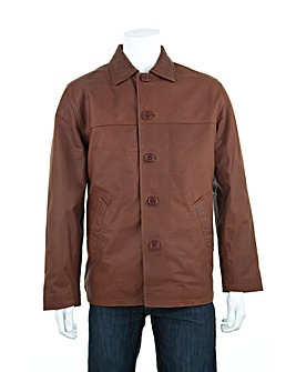 Woodland Leather Car Coat