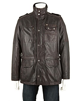 Woodland Leather Multi Patch Pocket Coat