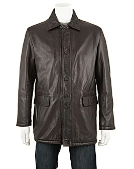 Woodland Leather Four Button Coat