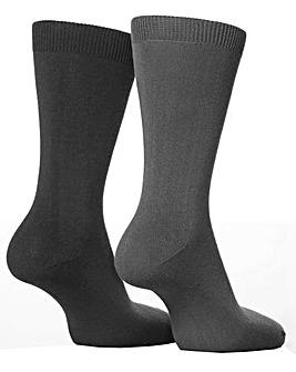 2 Pair Sockshop Plain Bamboo Socks