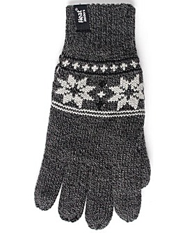 1 Pair Heat Holders Fairisle Gloves