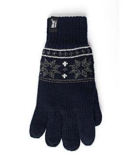 1 Pair Heat Holders Fairisle Gloves