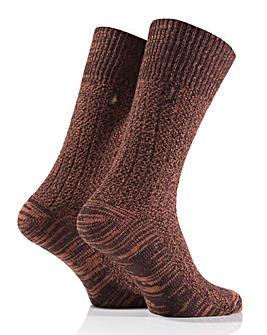 2 Pair Mens Jeep Textured Yarn Socks