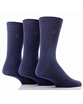 3 Pair Farah Gentle Grip Sock