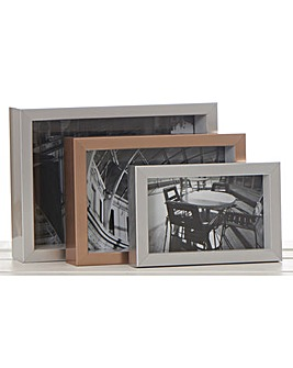 3 Nesting Rectangle Frames- Silver