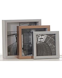3 Nesting Square Frames- Silver