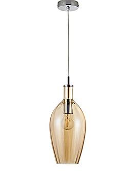 Amber Glass Pendant