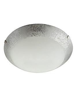 White Flush Ceiling Fitting