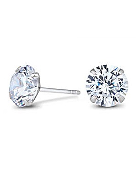Simply Silver large round stud earring
