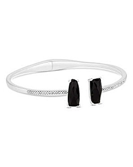 Jon Richard Jet crystal open pave bangle
