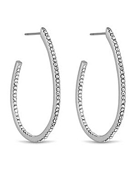 Jon Richard Silver curved hoop earring